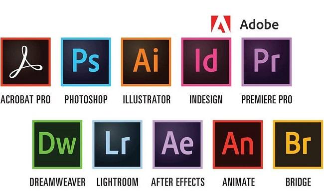 Các ứng dụng của Adobe Creative Cloud