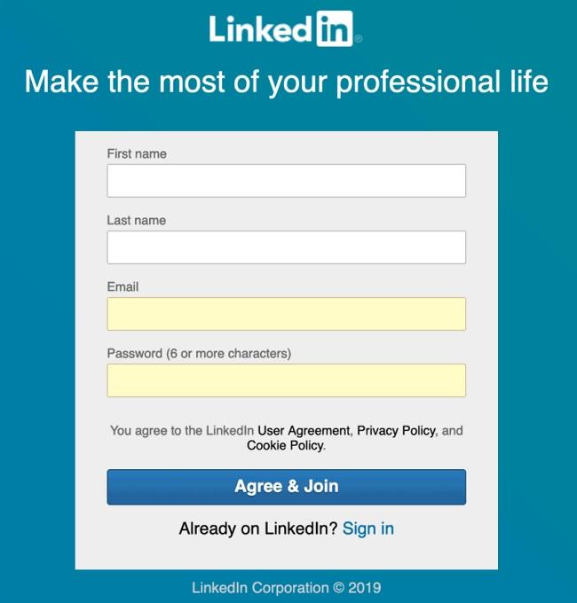 Cách đăng ký LinkedIn
