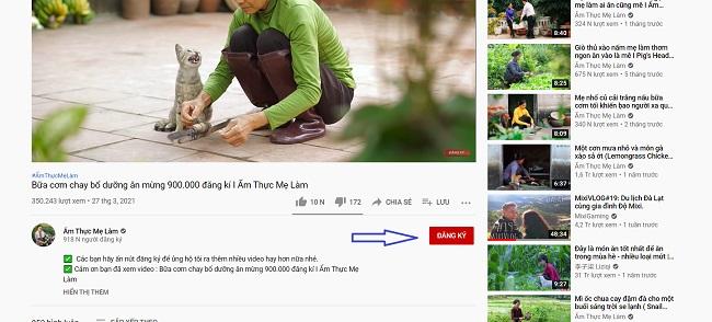 Cách Subscribe trên Youtube