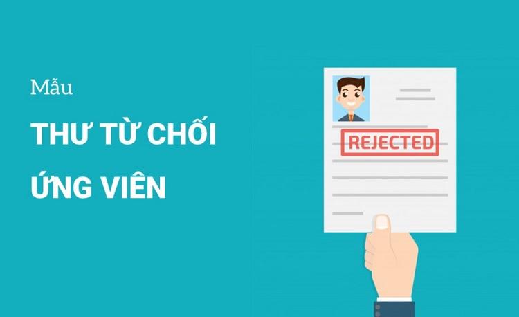 Khái niệm thư từ chối ứng viên