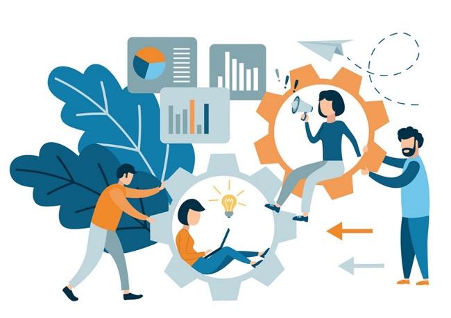 làm việc nhóm là quá trình hợp tác và làm việc cùng nhau trong một nhóm để đạt được một mục tiêu chung