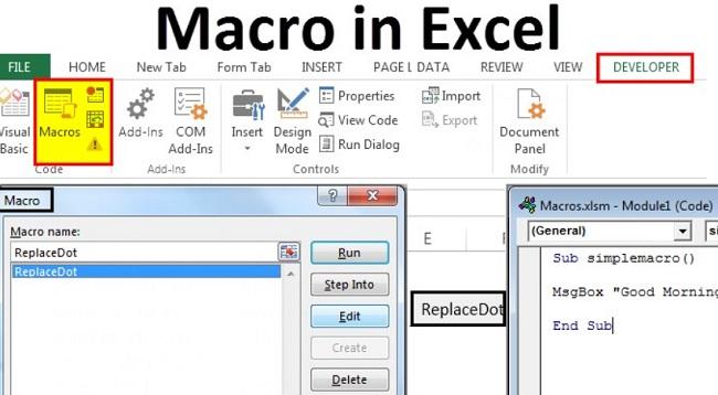 Macro trong excel là gì