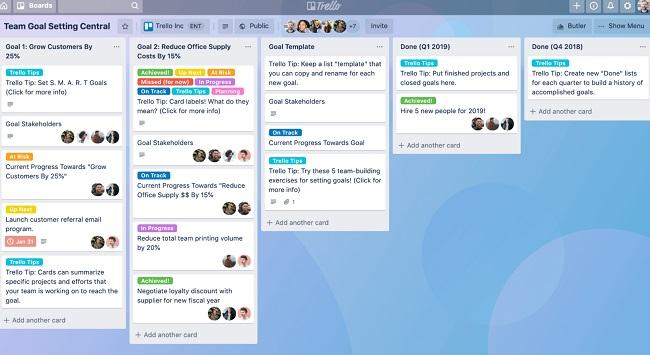 Phần mềm quản lý công việc miễn phí Trello