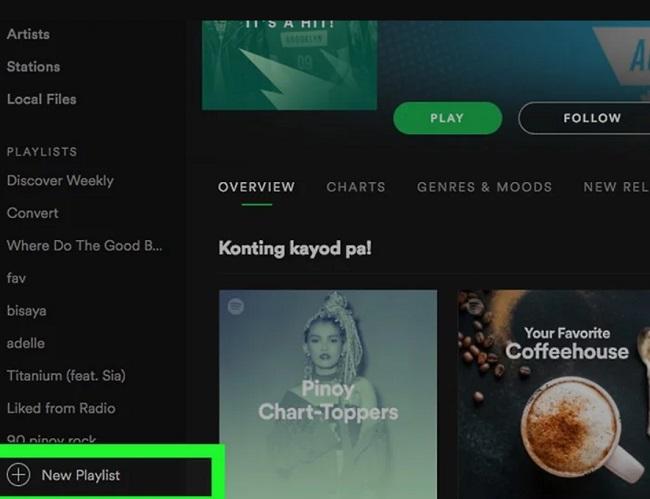 Tạo danh phát trên Spotify