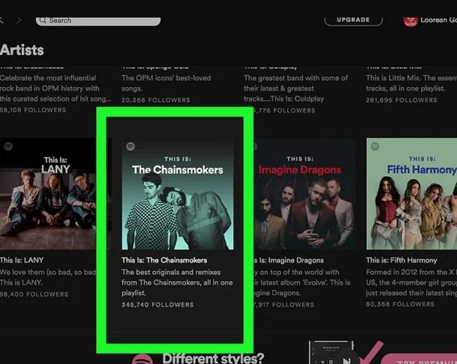 Tìm nhạc cho playlist trên Spotify