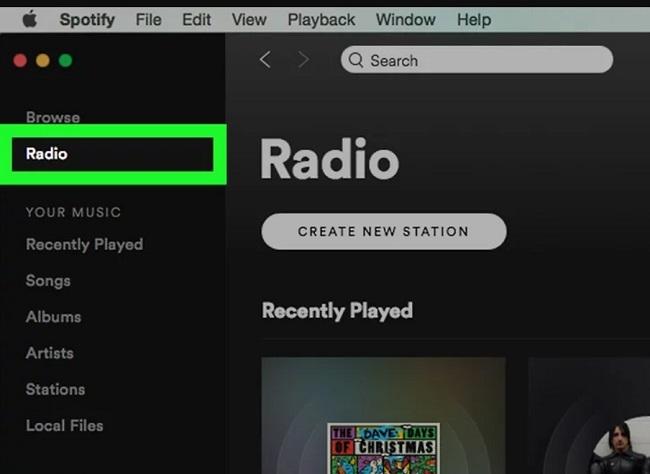 Tính năng raido trên Spotify