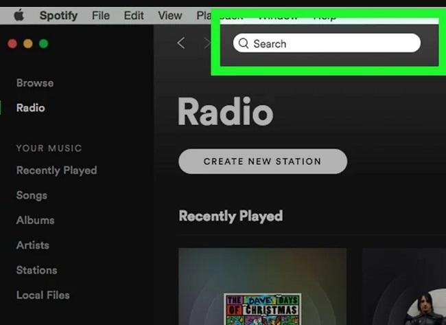 Tính năng tìm kiếm trên Spotify