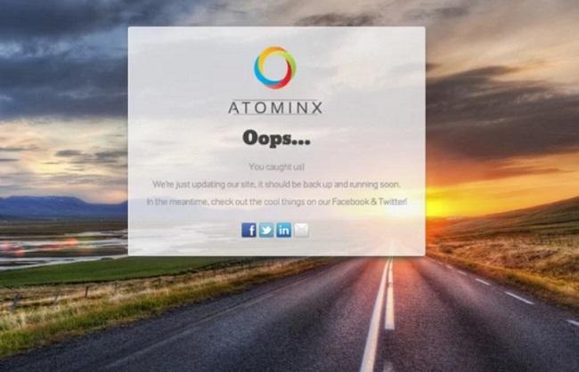 Trang bảo trì Atominx