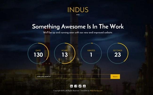 Trang Coming Soon của Indus