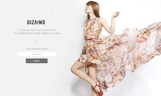 Trang Coming Soon của website Dizaind